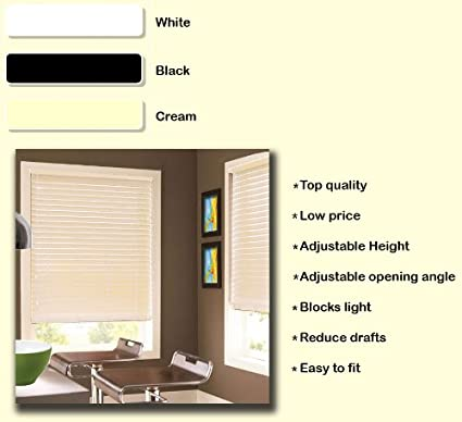 drop X 210cm Available in 3 Colours and 22 Different Sizes width White PVC Venetian Window Blind 150cm