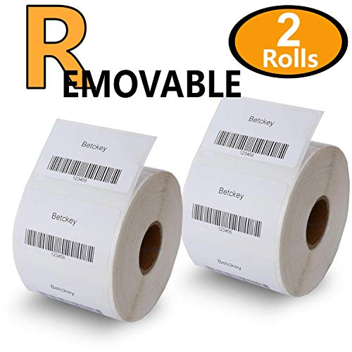 2 Rolls DYMO 30334 Removable Compatible 2-1/4