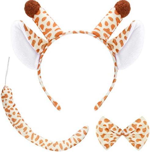 Conjunto de Orejas de Diadema Set de Disfraz Animal de Orejas Cola ...