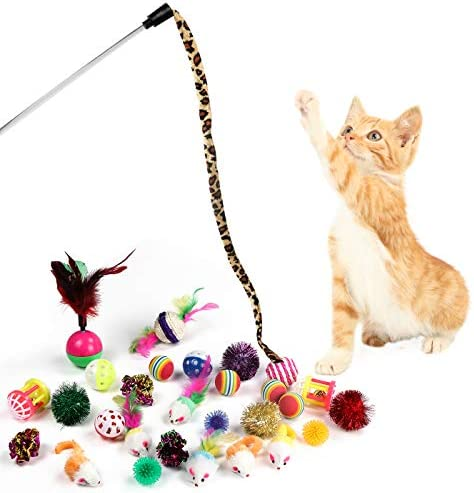 M JJYPET Cat Toys Kitten Toys Assortments,Crinkle Balls for Cat,Kitty,Kitten 4