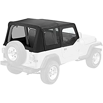 Pavement Ends By Bestop 51130 15 Black Denim Replay Replacement Soft Top  Clear Windows W