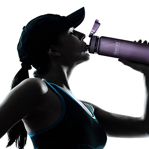 Gonex Sports Tritan Water Bottle 18oz 600ml, Flip Top Lid, Opens With 1-Click, Eco Friendly BPA-Free Plastic for Gym, Yoga, Running, Outdoors, Cycling, and Camping