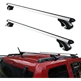 Otherya Aero Aluminum 54'' Universal Roof Rack Crossbars, Existing Raised Side Rail with Gap - Mounted Roof Cross Bars Fit Mo