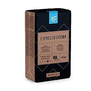 """Marchio Amazon - Happy Belly Caffè tostato macinato """"Espresso Crema"""" (4 x 250g)"""