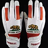 Primal Baseball California Bear Baseball Batting Gloves (Medium)