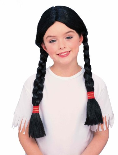 [Forum Child Sized Native American Wig] (Red Indian Princess Costume)
