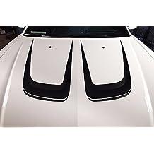 Dodge Charger 2011-2014 HOOD C-STRIPE Graphics Kit 3M Vinyl Decal Wrap - Matte Black