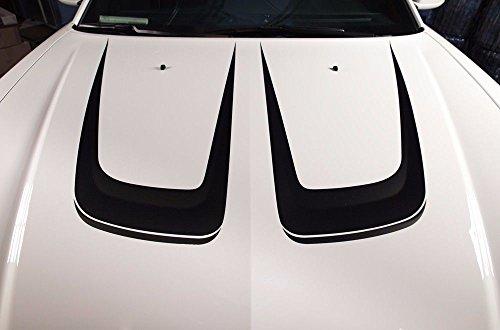Dodge Charger A/c - Dodge Charger 2011-2014 HOOD C-STRIPE Graphics Kit 3M Vinyl Decal Wrap - Matte Black