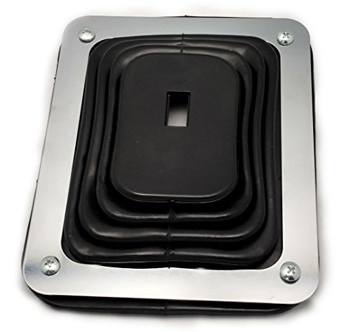 Hurst Style Rubber Shifter Boot With Chrome Plate 5 5/8 X 6 3/4 Universal - Floor Shifter Boot