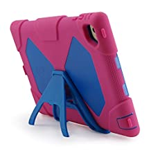 iPad Mini 4 Case, Aceguarder® [Heavy Duty] Apple iPad Mini 4 Case Full-body Protective Case Cover with Screen Protector Proof Shockproof Drops Protection Soft Silicon case with stand for Kids Outdoor Adventure Sports Gifts for Apple iPad Mini 4 Case (iPad mini 4, Pink/Blue)