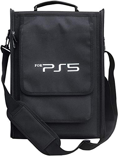 Playstation 5 Case Storage Bag, Heavy Duty Durable Nylon Carrying bag for PS5, Large Capacity PS5 Bags One Shoulder…