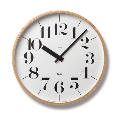 タカタ レムノス/lemnos 木製掛け時計「RIKI CLOCK」 (TL-WR-0401L) B00D2YQ0F0
