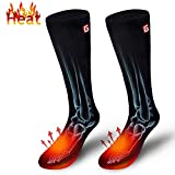 Men's Heated Hiking Socks for Clod Weather Rechargeable Battery Thermal Insulated Foot Warmers
