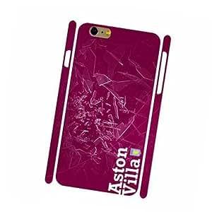 3D Cover Aston Villa FC Logo Iphone 6 Plus,Iphone 6S Plus (5.5 Pulgadas) Carcasa Ultrafina Stoßdämpfung Printed Plastic Protective Case