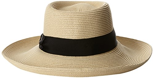Gottex Women's Santana Toyo Packable Sun Hat Rated, Natural/Black, One Size