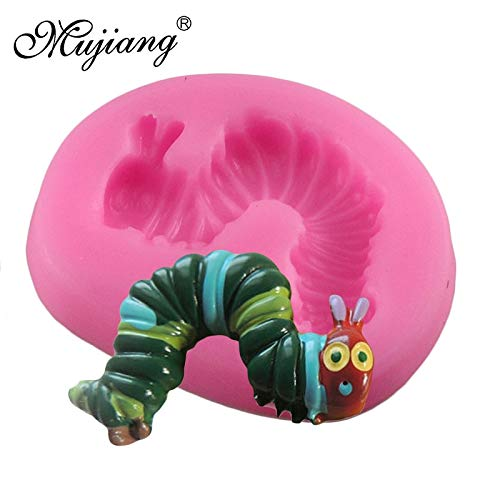 - Fiesta Mujiang Mini Bug Worm Silicone Mold Cupcake Baking Fondant Cake Decorating Tools Ice Tray Jelly Candy Chocolate Gumpaste Molds