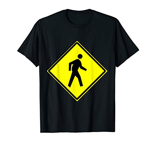 Pedestrian Crossing Sign Simple Halloween Costume T-Shirt ()
