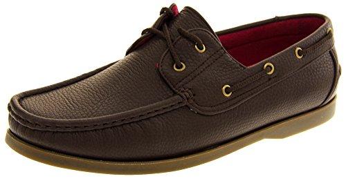 Shoreside Hombre Sintético barco zapato Marron (marrón Suela)