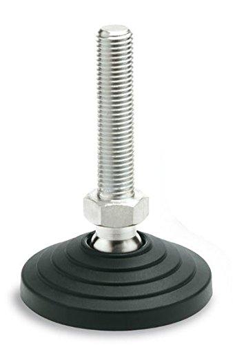 Technopolymer Base NBR No Slip Disk 8.03 Height Pack of 4 3.15 Diameter AISI 304 Threaded Stem M24 Thread Elesa 328861 Stainless Steel Leveling Element Pack of 4 3.15 Diameter 8.03 Height