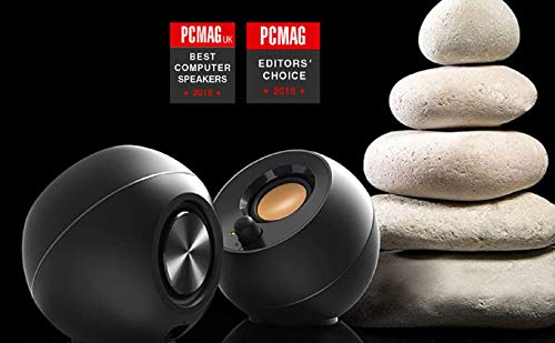 Creative Pebble 2.0 USB-Powered Desktop Speakers with Far-Field Drivers and Passive Radiators for Pcs and Laptops (Black)