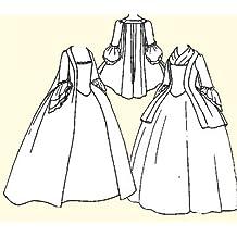 """1750's - 1770's Pet-en-l'air or Robe à la Française Pattern (Medium-Bust Size 36-38"""")"""