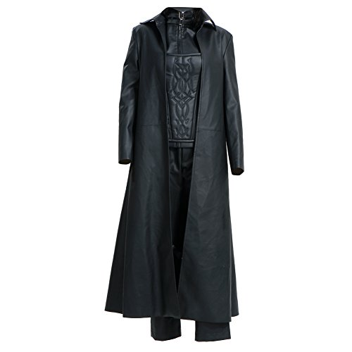 Selene Cosplay Costume Black PU Coat with Corset Full Set for Women (Medium)]()