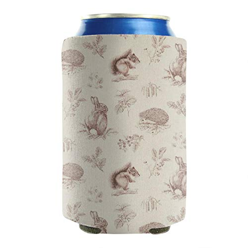 Goldest Squirrels Beer Can Cooler Sleeves Covers Set of 2 Washable Mug Cover Perfect for Barbecue, Weddings, Parties and Outdoor Activities (Koozie Squirrel Beer)