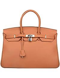 Womens Padlock Genuine leather 40CM Handbags On promotion