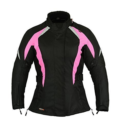 Chaqueta Protecció n Motos Mujer Impermeable Damas capa - Rosa, L GearX