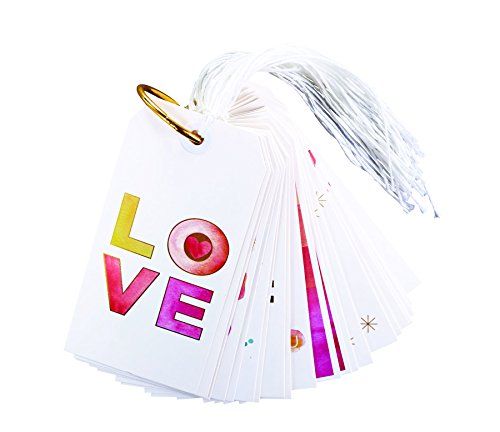 Watercolor Special Occasion 5 x 2 inch Cardstock Gift Tags 24 Piece Book -