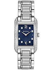 Bulova 96R211 Womens Analog Quartz Stainless Steel Diamond Watch
