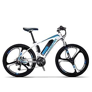 41lgMn9lLaL. SS300 Adulti elettrica Mountain Bike, Biciclette da Neve 250W, Rimovibile 36V 10Ah Batteria al Litio per 27 velocità Bicicletta elettrica, 26 Pollici in Lega di magnesio Integrata Ruote
