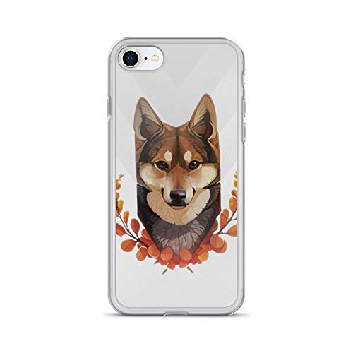 iPhone 7/8 Pure Clear Case Cases Cover Wolf Vintage Illustration Painting