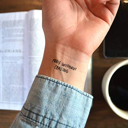 Pray Without Ceasing - Temporary Tattoo
