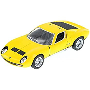 Amazon Com Kinsmart 1971 Lamborghini Miura P400 Sv Hard Top Yellow
