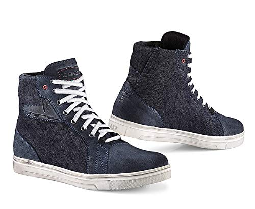 TCX Ace Denim Adult Street Motorcycle Shoes - Blue Denim/EU 44 / US 10 ()