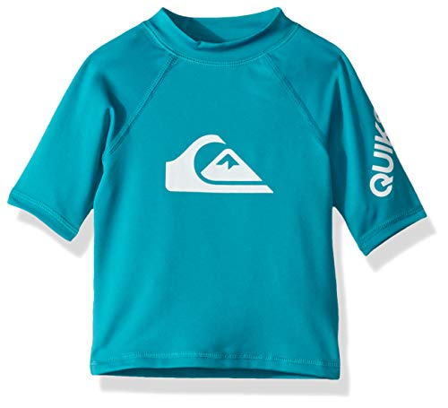 Quicksilver Boys Clothing - Quiksilver Little TIME Short Sleeve BOY SURF TEE Rashguard, Typhoon, 5