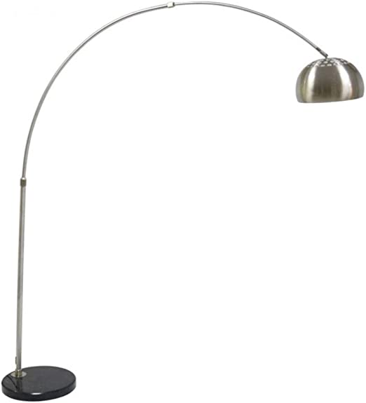 Lámpara de salón de larga duración Lámpara de pie de arco de acero ...