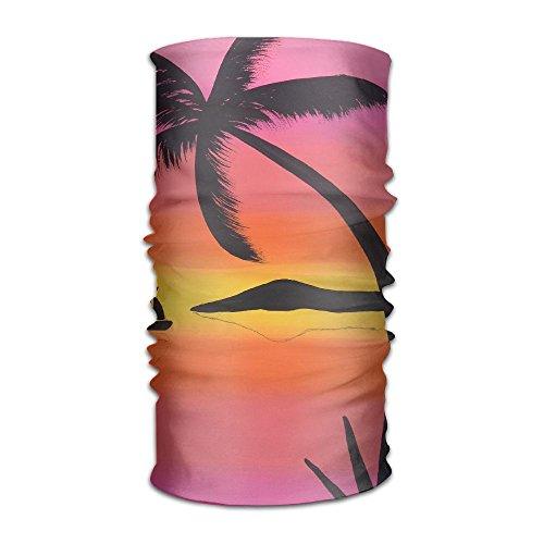 NavyLife Women Men Tropical Breeze Plants Fashion Headscarf Outdoor Sport Headwear Bandanas Multifunction Magic Scarf,Neck Gaiter,hand Wrap,Neck Balaclava For UV (Tropical Breeze Stripe)