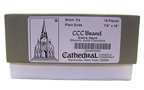 Cathedral Candle Company Extra Hard Stearic Acid Short 3'...
