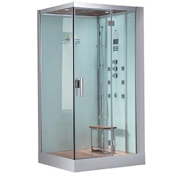 Ariel Platinum DZ959F8 W R Steam Shower Sauna   47u0026quot; ...