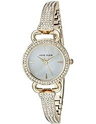 Anne Klein Womens AK/2816MPGB Swarovski Crystal Accented Gold-Tone Bangle Watch