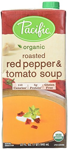 Pacific Natural Foods Creamy Roasted Pepper & Tomato Soup,32 Fl Oz
