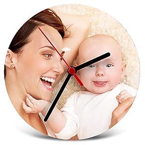 Lolapix Reloj de Madera Personalizado con Foto, Texto o Imagen, Original y Exclusivo. 4