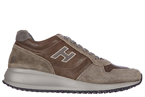 Hogan chaussures baskets sneakers homme en cuir interactive n20 h flock gris