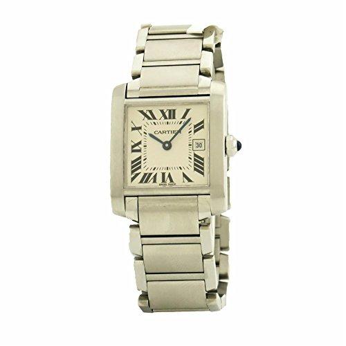 Cartier Tank Francaise swiss-quartz womens Watch W51011Q3 (Certified Pre-owned) by Cartier