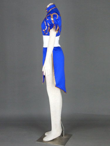 Street Fighter II Cosplay Costume - -Chun-Li 1st Blue Kid Large by Dream2Reality (Image #4)