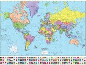 Laminated Political World Map - 7