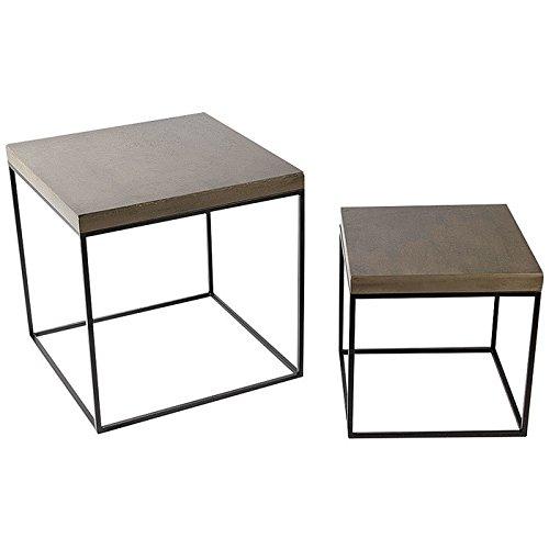 Tisch 2er Set 40x30 30x30cm MD