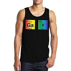 SpiritForged Apparel Gay Periodic Table Elements Men's Tank Top, Black XL